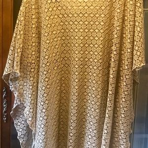 Ladies poncho/cover up top